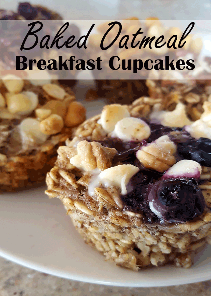 Baked Oatmeal Breakfast Cupcakes