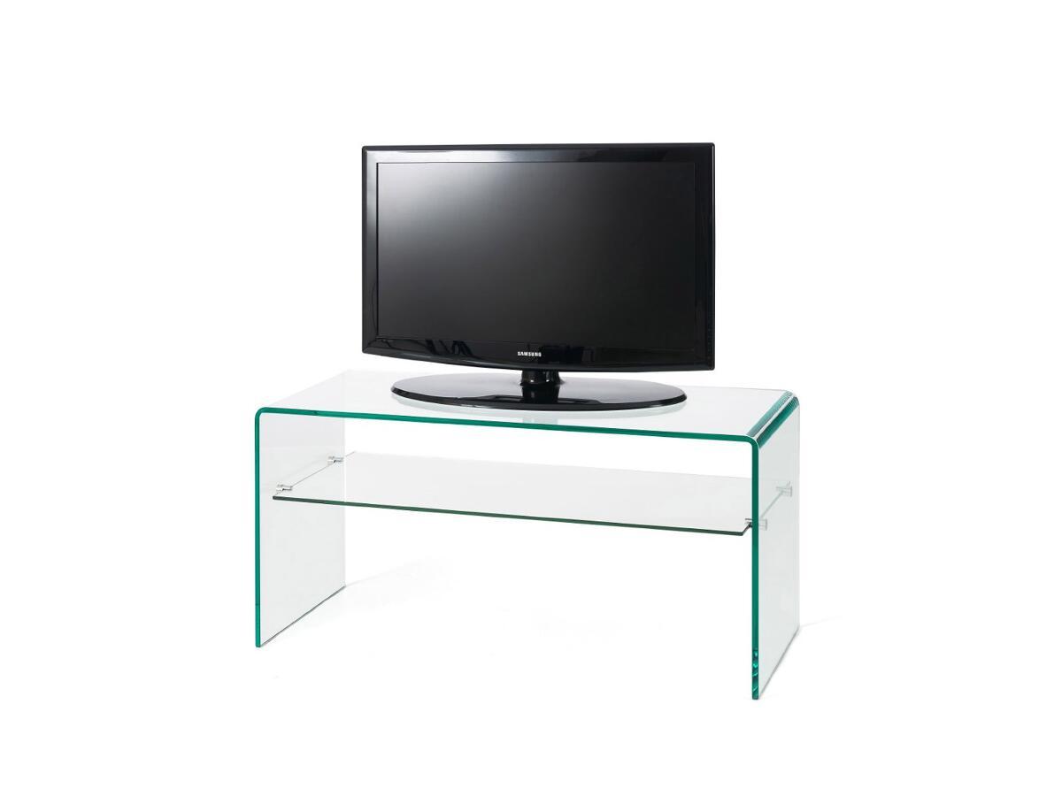 meuble tv verre 1 etagere a claira