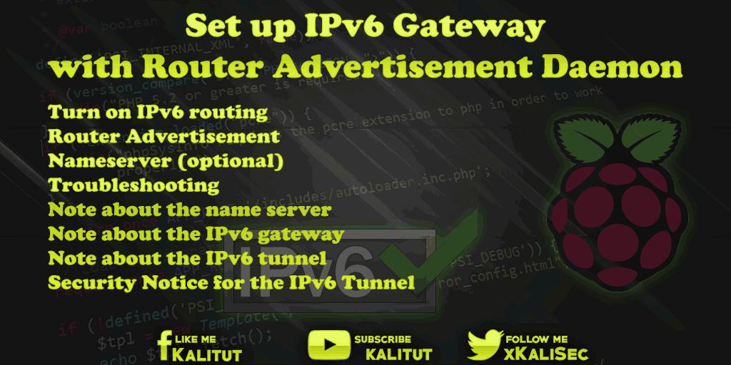 Raspberry Pi IPv6 Gateway