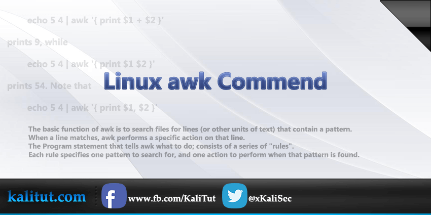 How to use awk command in linux