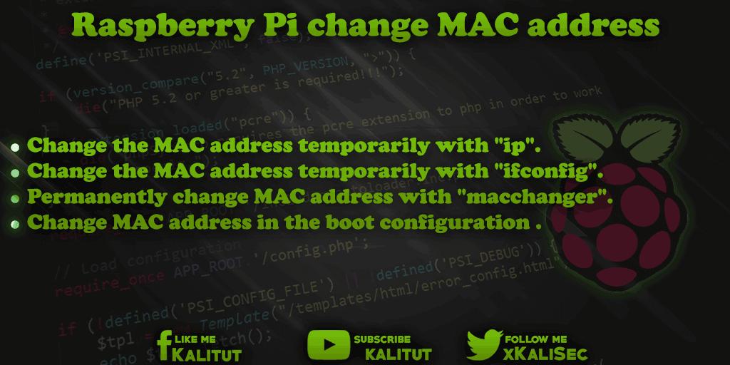 Change Raspberry Pi MAC address
