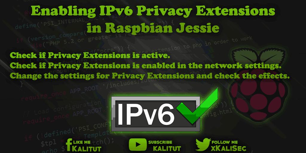 Raspbian IPv6 Privacy Extensions