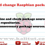 Check and change Raspbian package sources