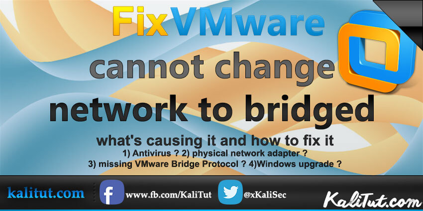 cannot change network to bridged
