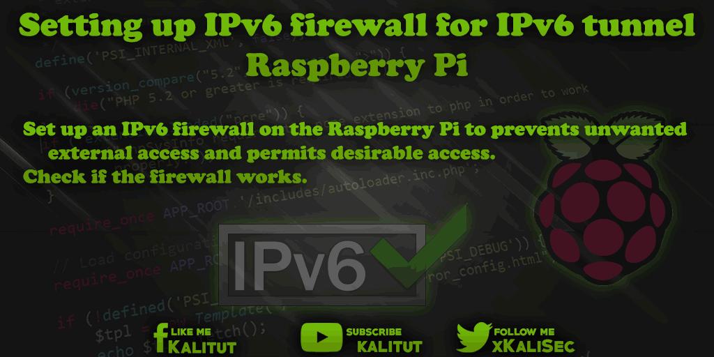 Raspberry Pi as an IPv6 tunnel