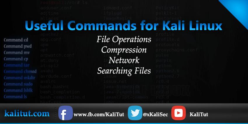 Kali Linux Commands