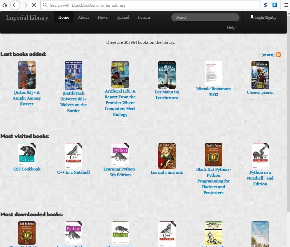 Darkweb Books Library