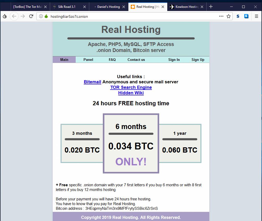 darknet web hosting
