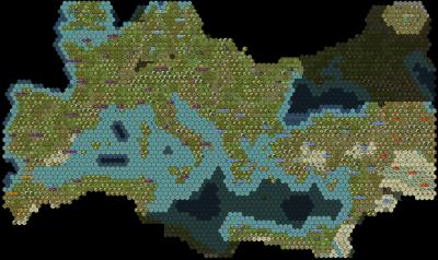 Civilization 5 Fall of Rome Scenario Map