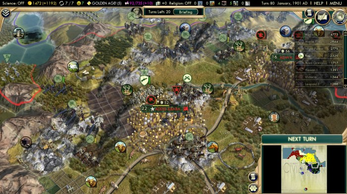 Civilization 5 Scramble for Africa Ottoman Deity Capture Addis Ababa
