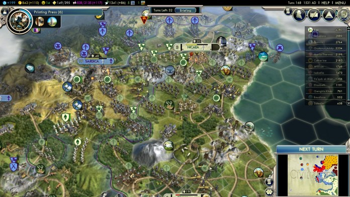 Civilization 5 Into the Renaissance Mehmet the Conqueror Nicaea recapture