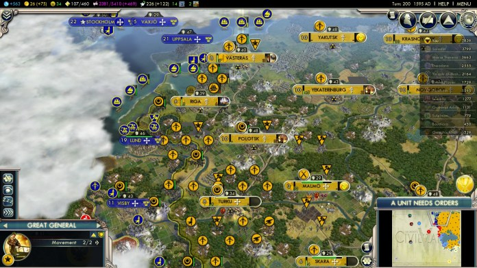 Civilization 5 Into the Renaissance Yokes on the Mongols - Russian Baltic