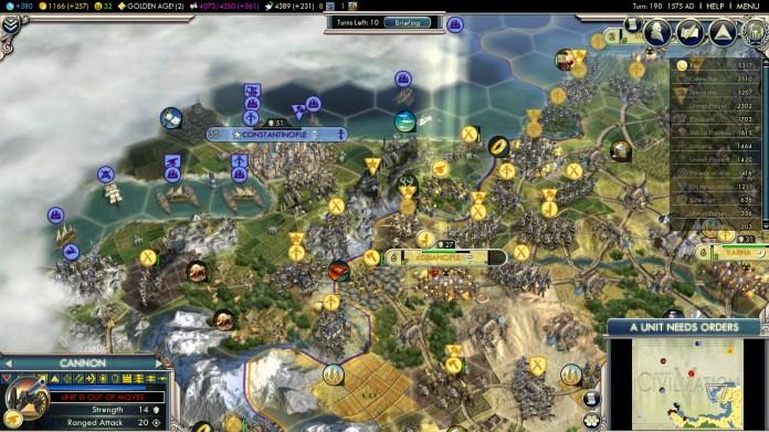 Civilization 5 Into the Renaissance Ayyubids Deity Citadel at Constantinople