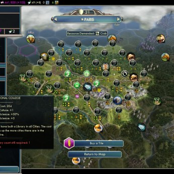 Civilization 5 Into the Renaissance France Deity Paris in turn 64