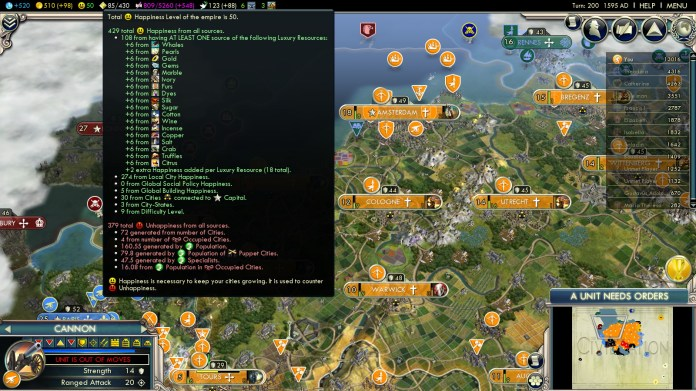 Civilization 5 Into the Renaissance Netherlands Deity Win - Happiness