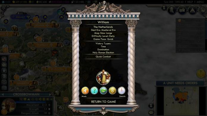 Civilization 5 Into the Renaissance Netherlands Deity Win