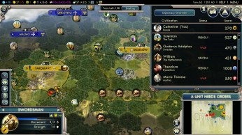 Civilization 5 Into the Renaissance Russia Deity - War with Sweden