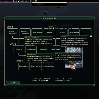 Civilization 5 Conquest of the New World - European Social Policies