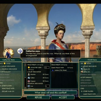 Civilization 5 Conquest of the New World France Deity - Peace with Portugal