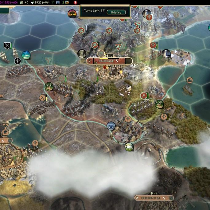 Civilization 5 Conquest of the New World Aztecs Deity 3b - Palenque captured