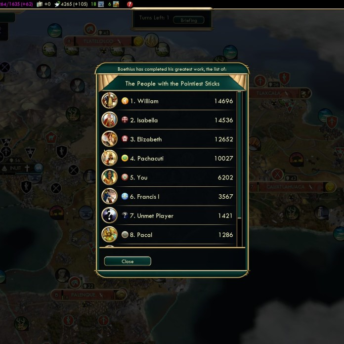 Civilization 5 Conquest of the New World Huitzilopochtli's Arrow 3b - Military Might