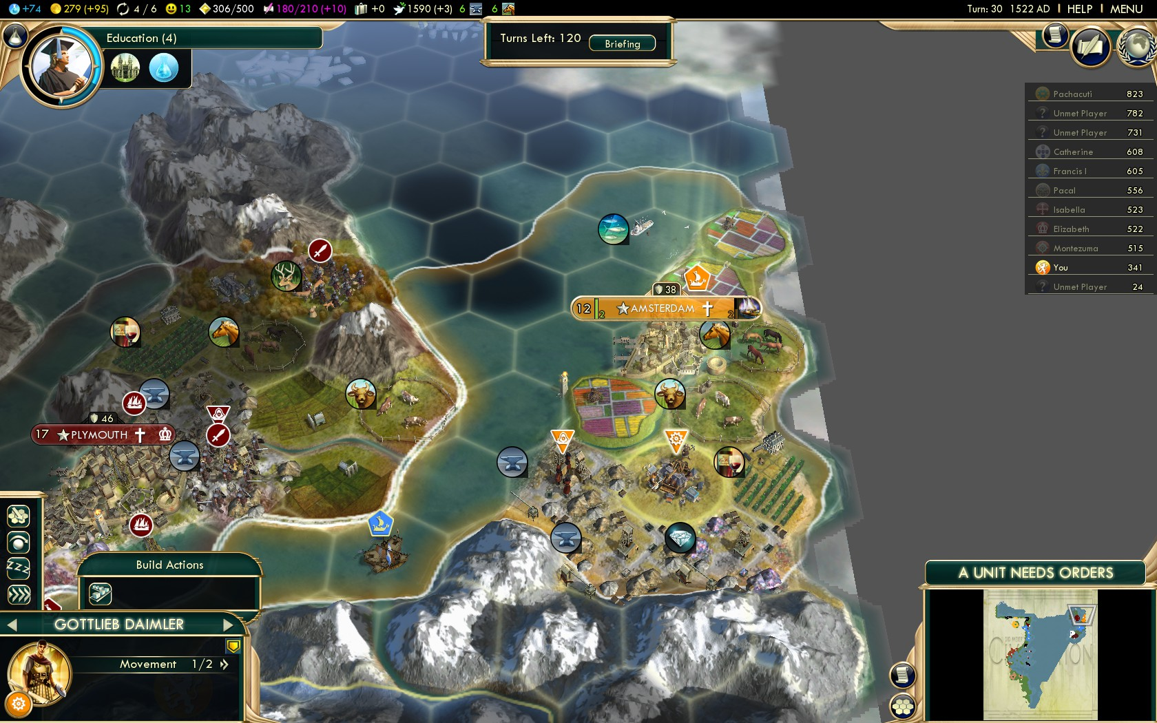 Civilization 5 Conquest of the New World Netherlands Deity - Great Engineer