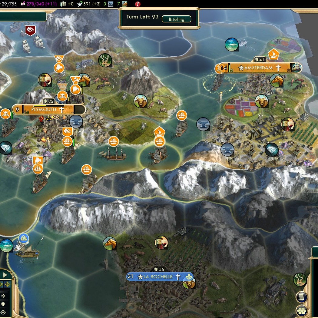 Civilization 5 Conquest of the New World Netherlands Deity - Treasures Captured