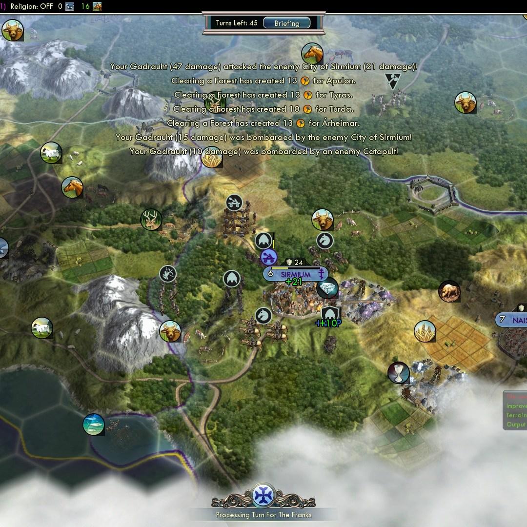 Civilization 5 Fall of Rome Goths Deity - Raze Sirmium