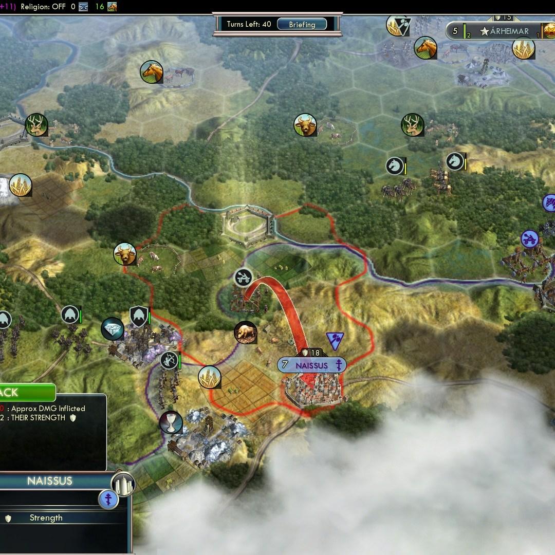 Civilization 5 Fall of Rome Goths Deity - Shots on Naissus