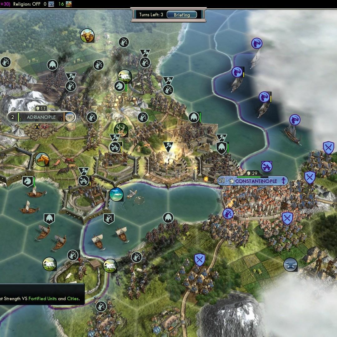 Civilization 5 Fall of Rome Goths Deity - Veteran Catapult