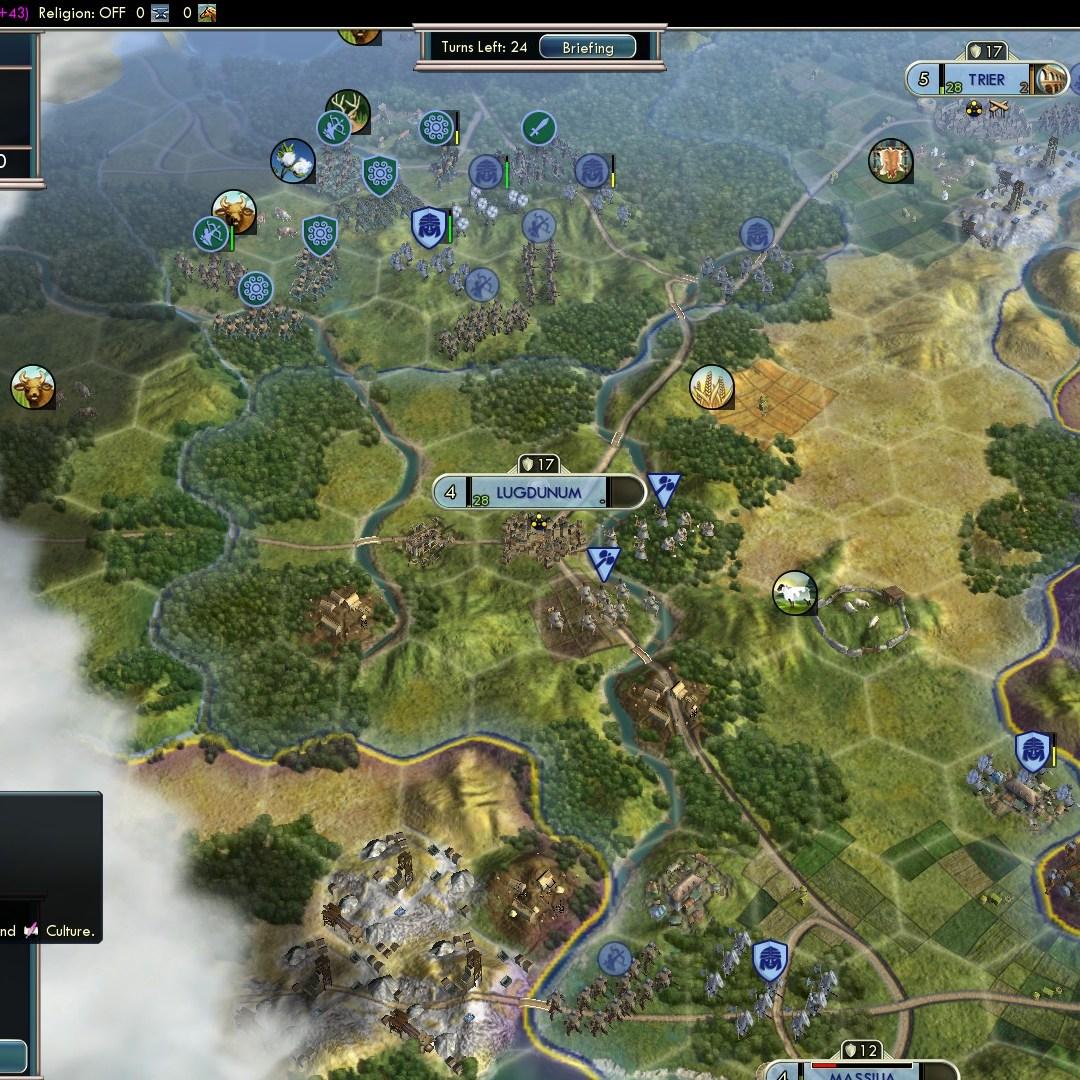 Fall of Rome Franks Deity 46 Defend vs Celts