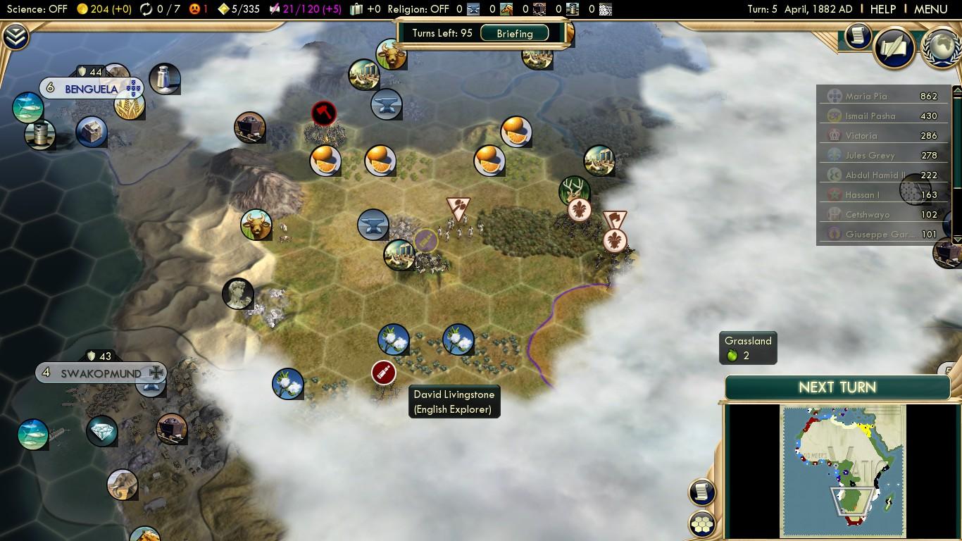 Civilization 5 Scramble for Africa - Belgium Deity 05 - Exploring