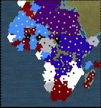 Civilization 5 Scramble for Africa - Belgium Deity 2020 - Final Map