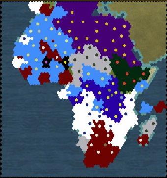 Civilization 5 Scramble for Africa Ethiopia Deity - Map turn 100