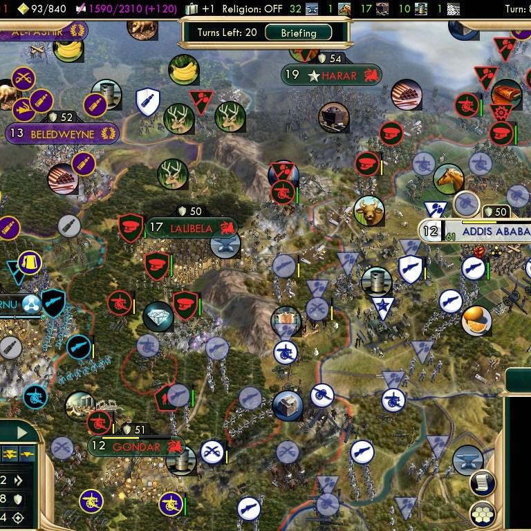 Civilization 5 Scramble for Africa Portugal Deity - Prime enemy: Ethiopia