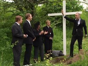 hej rymden grisbegravning