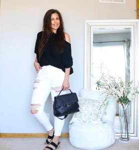 7 black sweater outfits for spring