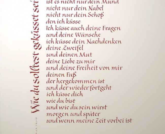 Kalligrafie Propfe Wie Du Gedicht Zur Hochzeit