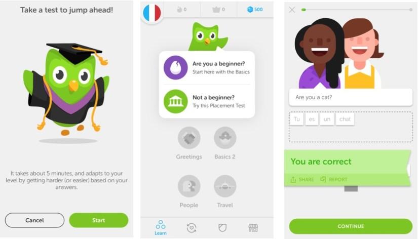 Esempi di gamification - Duolingo