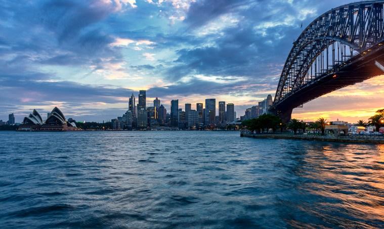 Sydney Harbour bridge opera house sunset australia new south wales dan kalma photography sunset