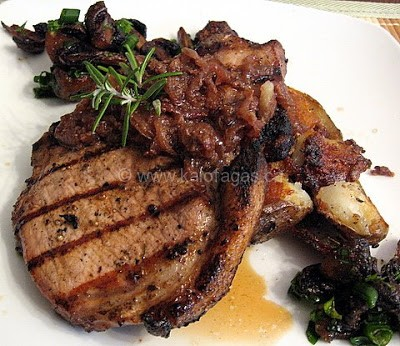Grilled Pork Chops With an Onion Marmalade