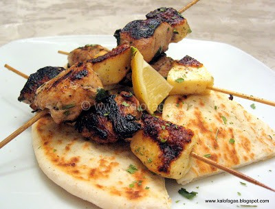 Chicken & Halloumi Souvlaki