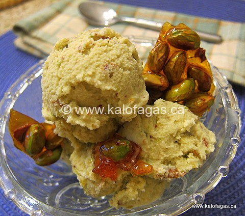 Pistachio Ice Cream With Mastiha