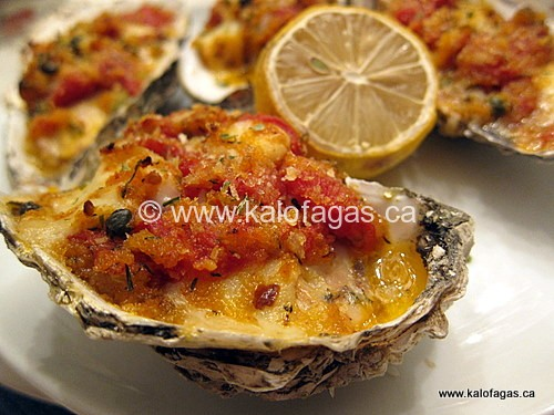 "Baked Oysters ""Emmy"" With Tomatoes, Capers & Feta"