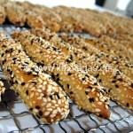 Kritsinia (Sesame-Covered Bread Sticks)
