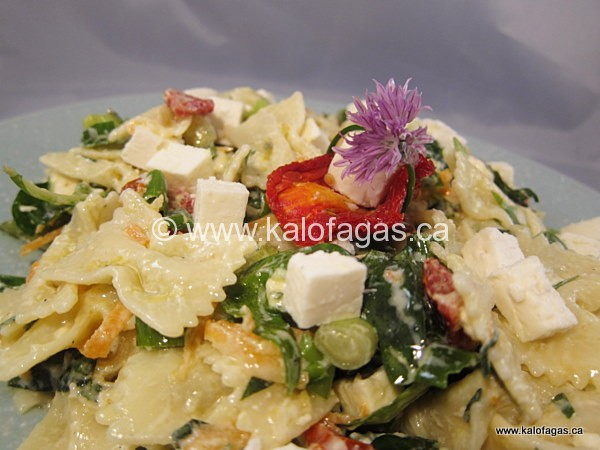 Pasta Salad With Feta, Sun-dried Tomato & Spinach