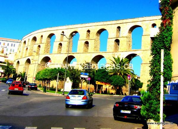 Kamares, Roman aqueducts passing through Kavala