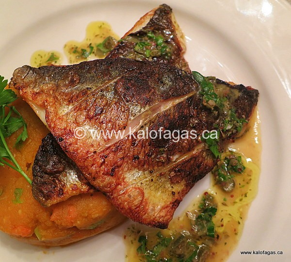 Pan-Seared Sea Bream with Citrus-Caper Sauce