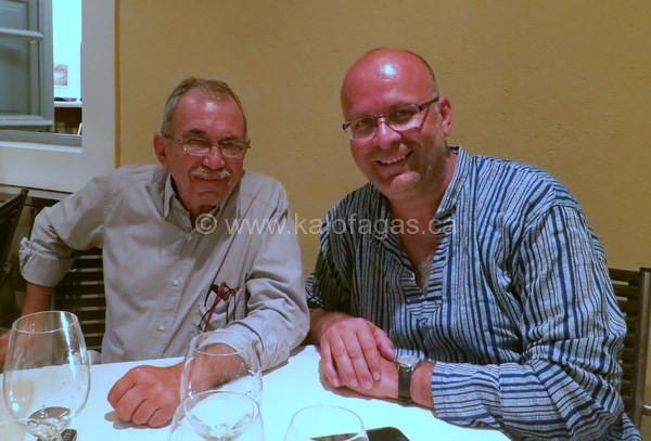 with Girogios Haztigiannakis, Selene Restaurant founder