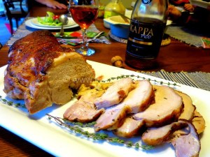 Roast Pork Loin With Apple Stuffing